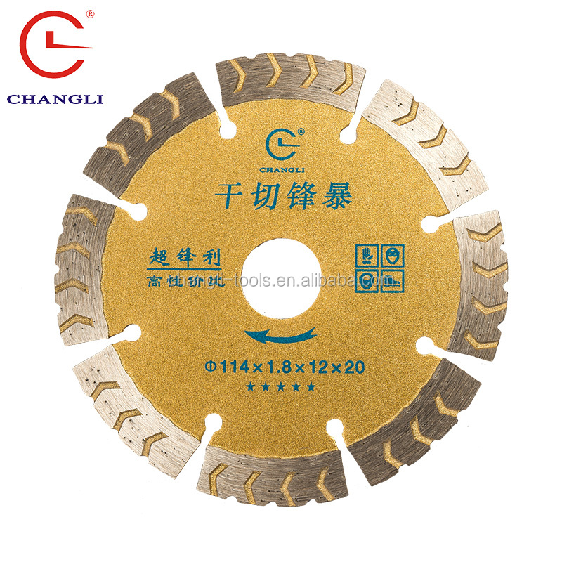 Angle Grinder Blade for cutting and grinding concrete & granite stone, 114mm, 4.5""