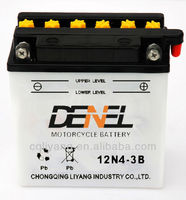 Dry Charged Maintenance Free Batteries For Loncin Lifan Zongshen Jianshe motorcycle storage battery 12V 12N4-3B