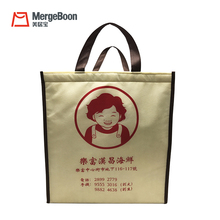 Wholesale Non-woven fabric eco thermal foldable cooler bags custom logo