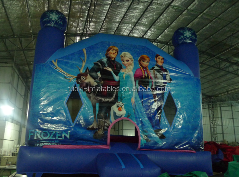 outdoor frozen princess inflatable bouncer sports games
