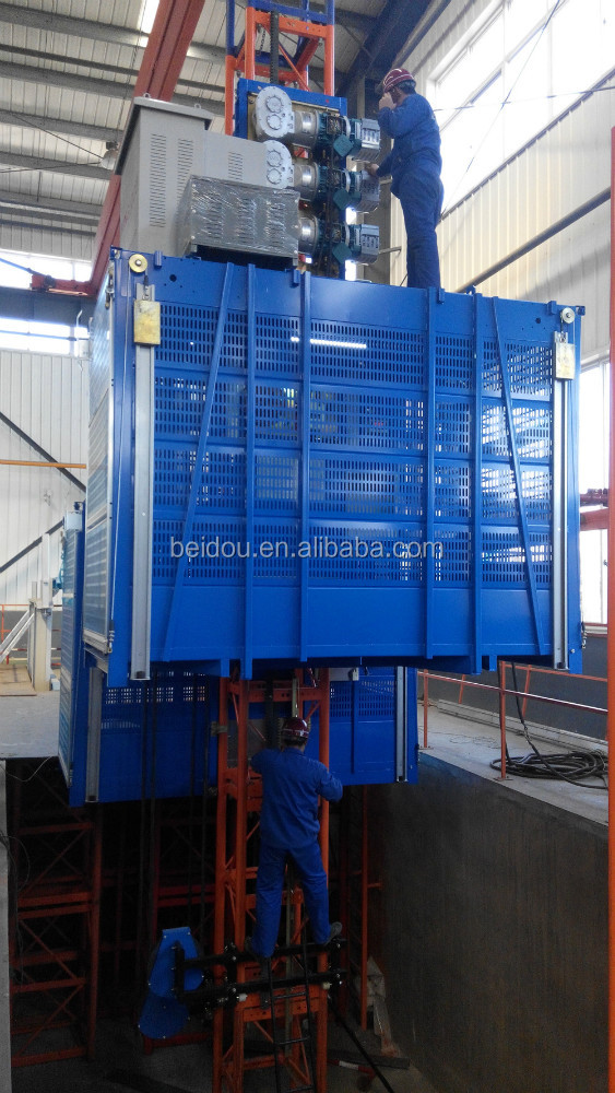 High quality Construction building elevator for lifting materials and passengers with Frequency Inverter