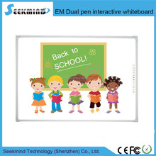 Three type Electromagnetic Dual Pen Interactive Whiteboard/Electronic educational equipment for schools