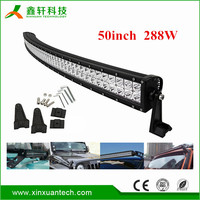 LED Auto lighting waterproof IP68 double row 4D off road 50 inch led bar 288w