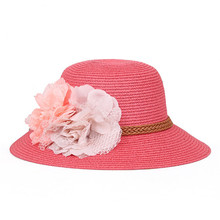 lady beach straw hat /wide brim floppy from China factory