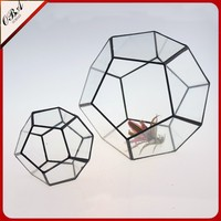 Small modern art handmade high quality glass vase for home decor glass plant terrarium