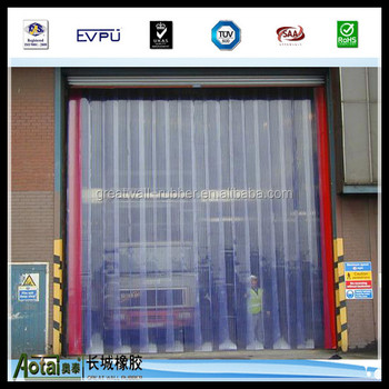Clear Flexible PVC Door Strip/ pvc curtain