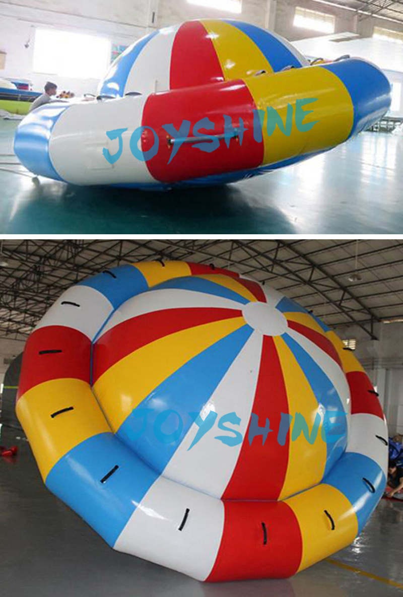 Rotating Sea Beach Lake Water Sports Toys Towable Inflatable Saturn UFO Balloon Water Disco Boat With Factory Price