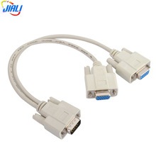 VGA Splitter HD15 Male to 2*HD15 Female VGA Y Cable