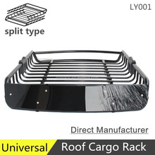 LY001 4x4 universal steel roof rack cargo basket luggage carrier