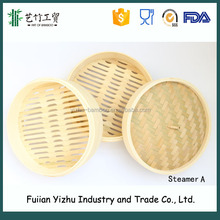 Natural fashion mini dumpling steamers/round bamboo steamers/portable food steamers for steam bread,dumplings,vegetables.......