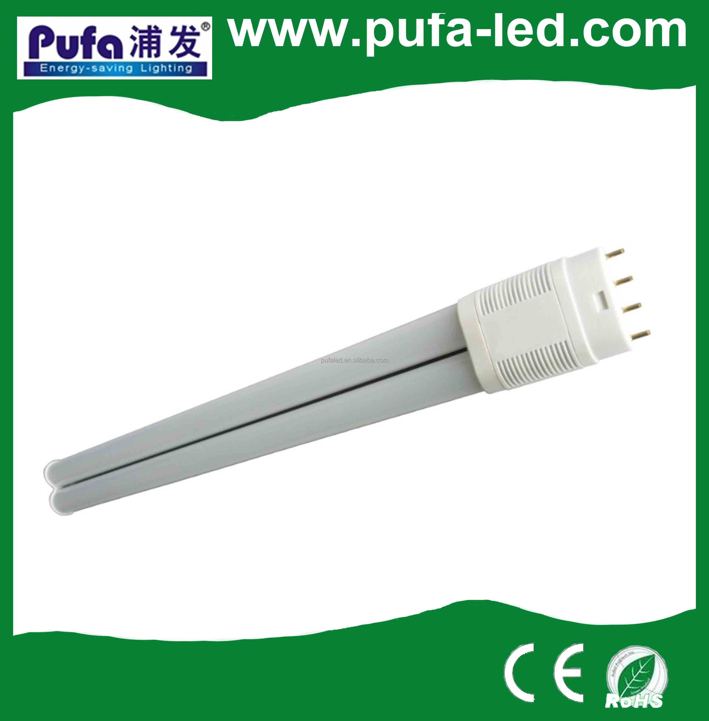 CE ROHS LED plug in tube lamp G24/E27/G23/2G11 Base Type and Bulb Lights Item Type led PL 11w lamp