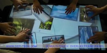 "PROMOTION!!top quality 2 real points 65"" IR touch screen overlay"