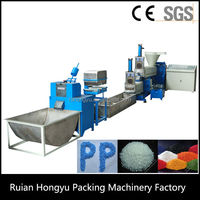 Double Stage Waste Plastic Film Granulating Extrusion Line