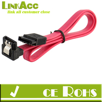 "Linkacc1-th131 5x 18"" SATA 3.0 Cable SATA3 III 6GB/s Right Angle 90 Degree for HDD Hard Drive"