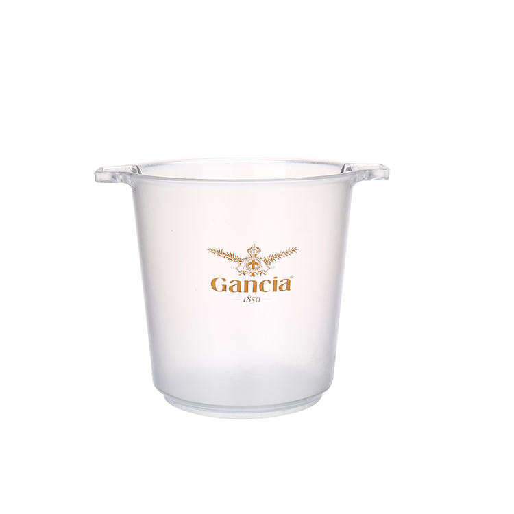 Promotion Beer Cooler Custom Logo Clear Plastic Juice Champagne Custom Ice Bucket For Parties