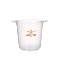 Promotion Beer Cooler Custom Logo Clear Plastic Juice Champagne Ice Bucket For Parties