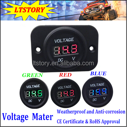 DC Voltage Meter with Red/Blue/Green Light