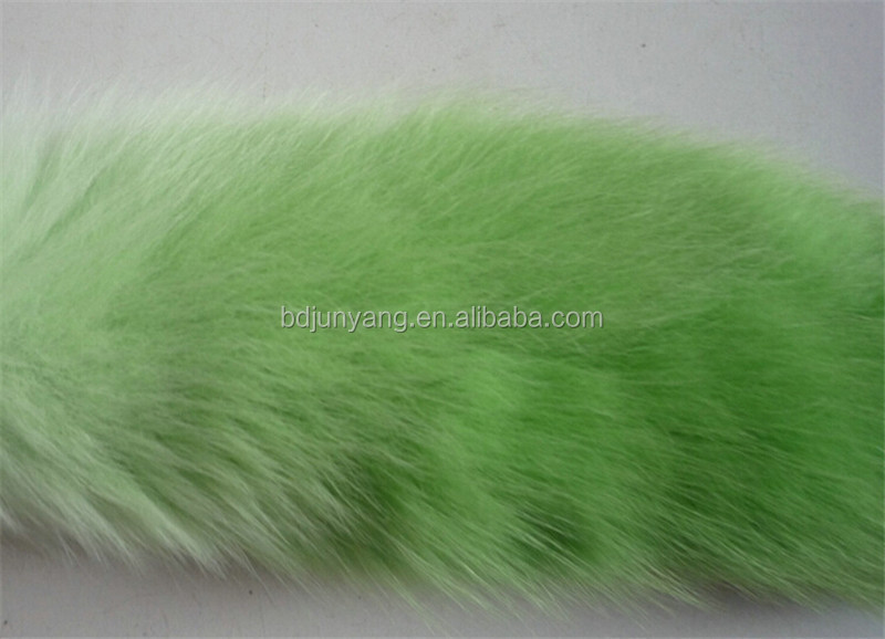 fox fur tail key chain large imports of cross fox tail fashion dyed 100% genuine fox fur tail