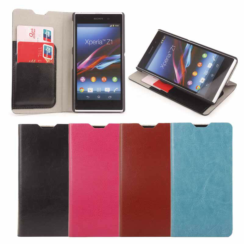 Case for sony xperia z1 , for sony xperia z1 flip cover