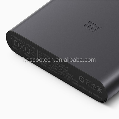 Origina Xiaomi 10000mAh 2 Power Bank Quick Charge External Battery 2nd Generation Supports 18W Fast Charging For Mobile Phone