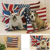 Hot design 100% cotton animal dog handmade embroidery custom cushion cover wholesale