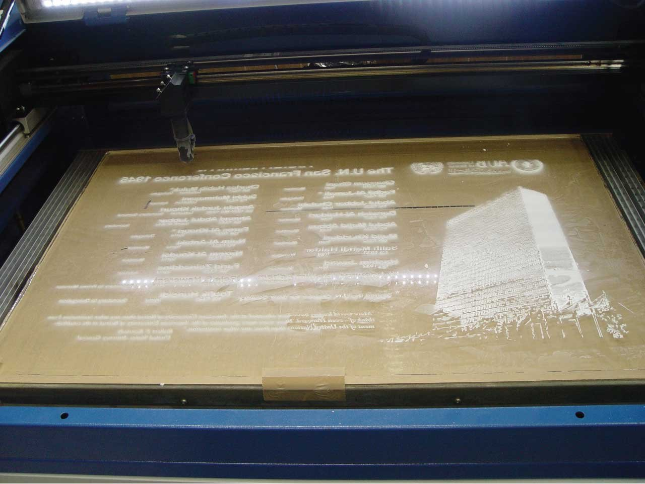 United Nations Large Format Acrylic Sign