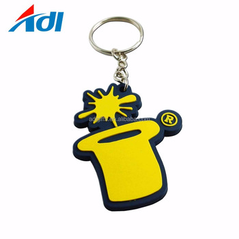 custom soft pvc rubber gift keychain manufacturers