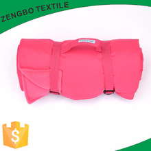 High quality foldable waterproof portable polar fleece picnic blanket/ picnic blanket with handle strap
