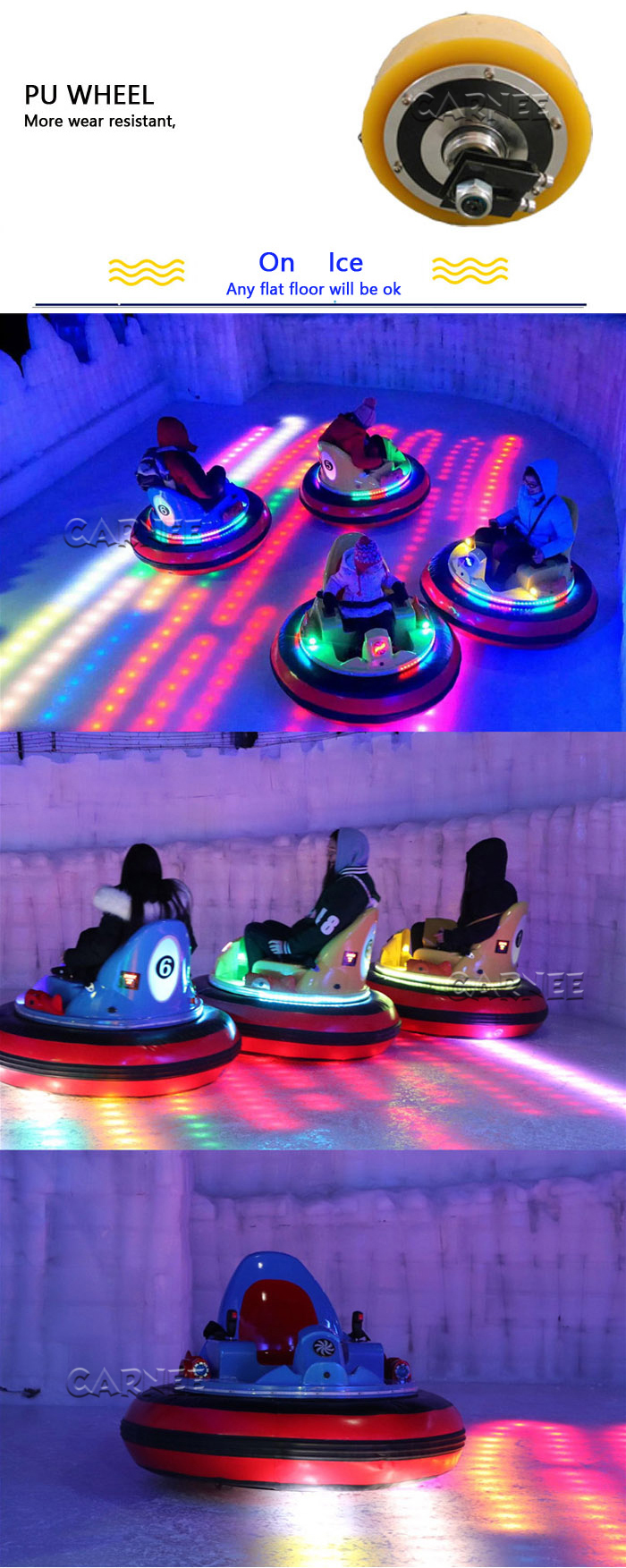 inflatable UFO battery spin bumper car