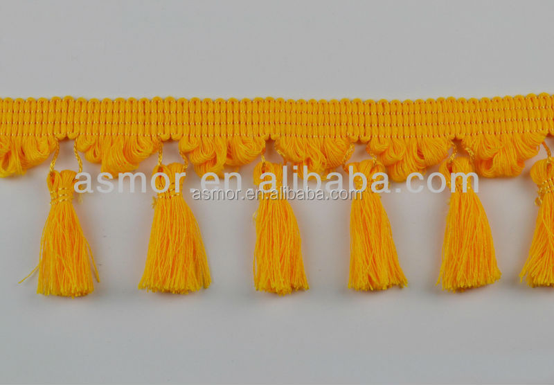 Decorative Tassel Fringe Trimming For Curtain