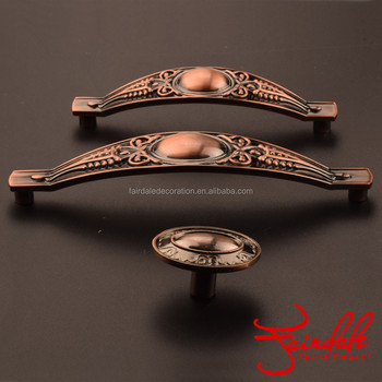 Fashion Design Antique Bronze Color Zinc Alloy Furniture Pull Cabinet Wardrobe Handle
