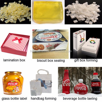adhesive glass bottle label sticker with light yellow hot melt adhesive granules
