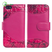 Newest design book style two mobile phones wallet leather case for cell phone for Iphone 5,5s,5g