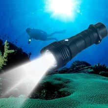 Drop Shipping 10W L2 1000LM Outdoor Diving White Light Waterproof Torch LED Flashlight