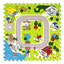 City transport eva cartoon foam eductational mat for kids