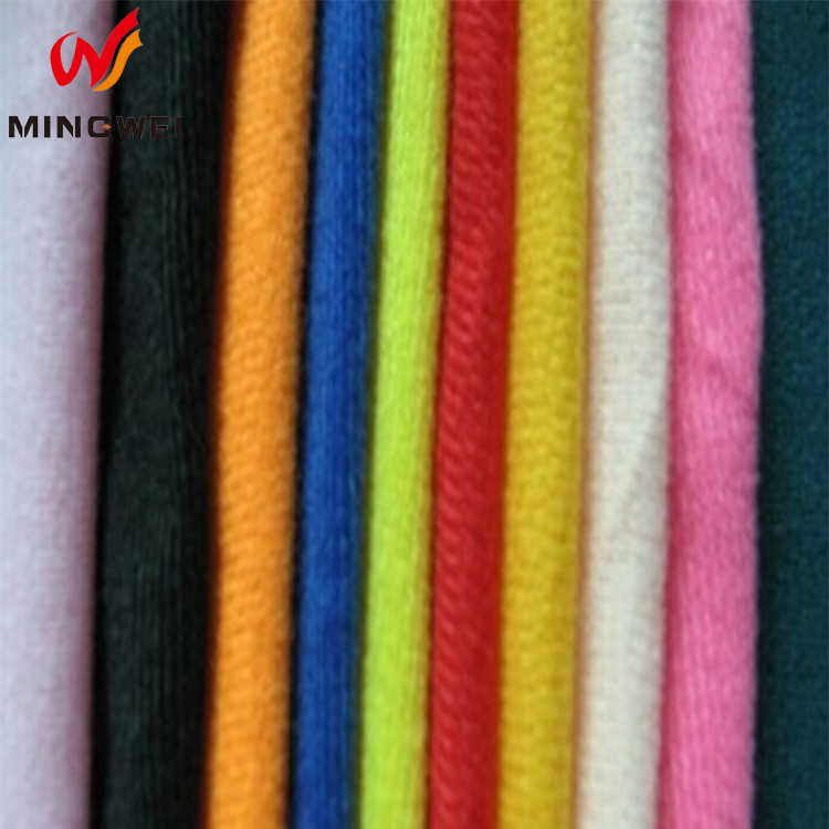 Waterproof Sports Suit Polyester Knit Fabric, Durable 100 Polyester Tricot Brushed Fabric