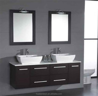 hanging wall mirrored design waterproof cabinet for bathroom