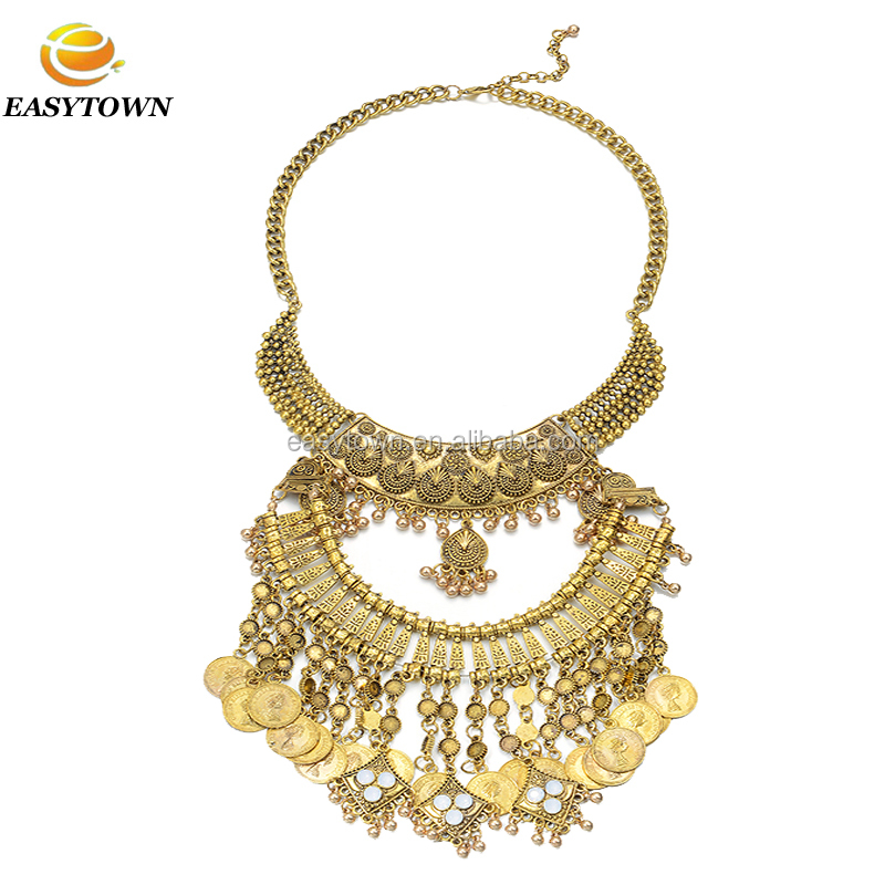 Costume jewelry high quality alloy statement necklace for women