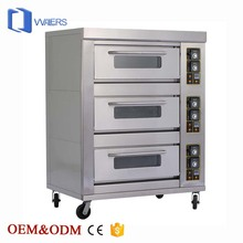 Commercial Bakery Equipment Material 201 Stainless Steel with 1 2 3 Layers Bread Pizza Electric or Gas Type Baking Bakery Ovens