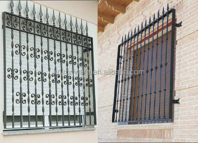 Beautiful Low Carbon Q235 Steel Window Grill Design House