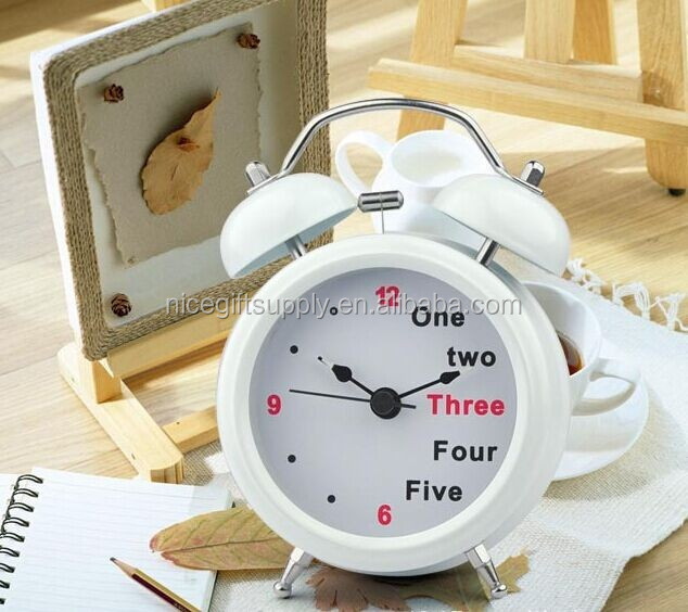 English digital double bell alarm clock / retro alarm clock