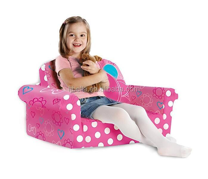 Furniture, Children's 2 in 1 Flip Open Foam Sofa