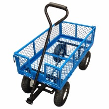 New 990 Lbs Heavy Duty Steel Rolling Utility Wagon Yard Garden Cart