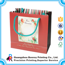 Art paper custom famous brand paper bag for gift