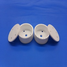 Small Zirconia ceramic filtering crucible mini size refractory crucibles