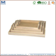 Eco-friendly feature handicraft product customized wooden serving tray