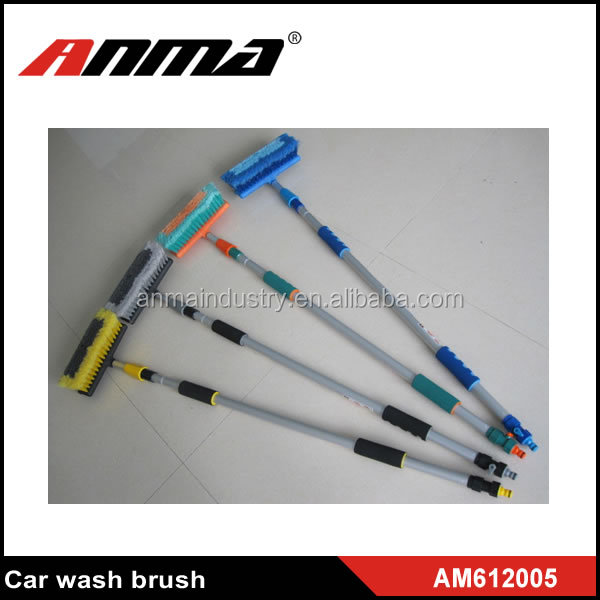 ANMA high quality long handle water spray telescopic car wash brush
