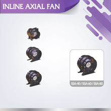 Industrial efficient air flow 230V SSA-80 AC axial inline exhaust fan