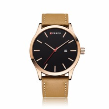 Men Watch CURREN watches 2018 top brand luxury fashion casual leather Quartz Wristwatches