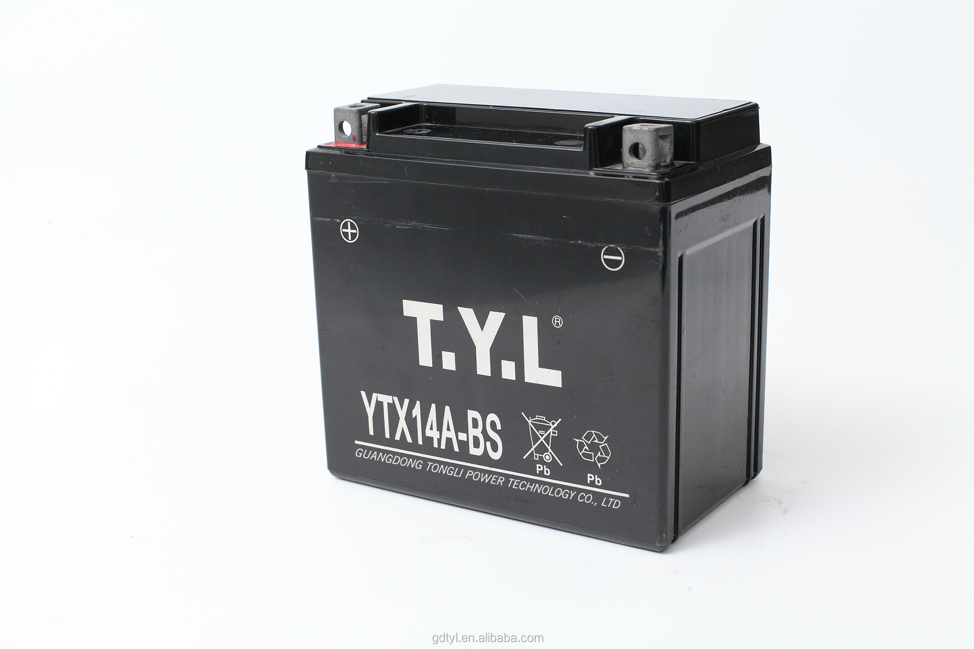 Hot selling mf motorcycle battery 12v 14ah with best quality and low price